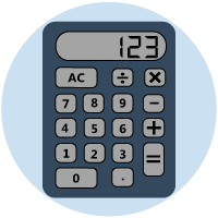 Image of a calculator